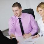 Grupo de jóvenes negocios en reunión — Foto de Stock   #9433778