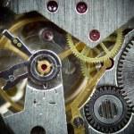 Super macro clock mechanism 1 — Stock Photo #1745654