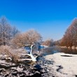 Cold day on winter river — Stock Photo