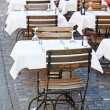 Small street cafe - Stockfoto