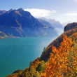 Autumn in alps — Stock Photo