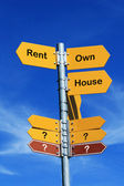 Rent or Own House? — Stock Photo