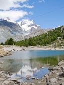 Hiking route near Matterhorn — Stock Photo