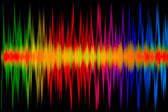 Colorful Music Graph — Stock Photo
