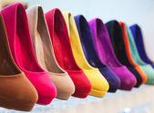 Kolorowe skórzane buty — Zdjęcie stockowe