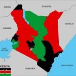 Постер, плакат: Kenya map