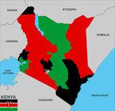 Mapa de kenia — Foto de Stock