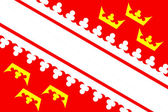 Alsace flag — Stock Photo