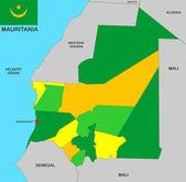 Mauritania map — Stock Photo