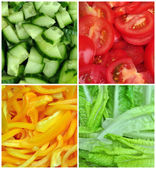 Collage of different vegetables — Stock Photo