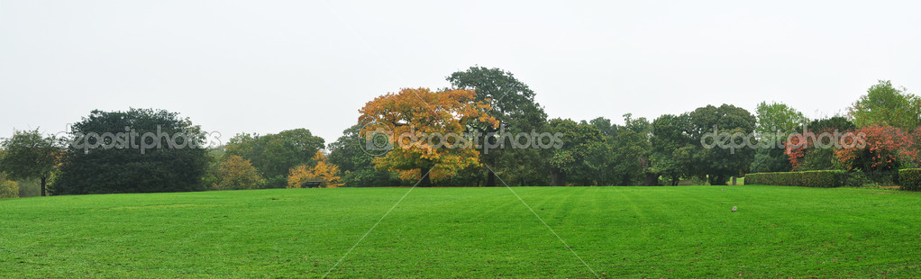 Autumn english landscape in Greenwich London England panorama  — Stock Photo #14027189