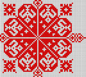 Romanian popular pattern — Stock Photo
