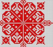 Roemeense populaire patroon — Stockfoto