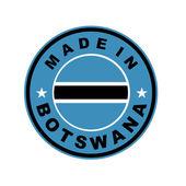 Made in botswana — Stock Photo
