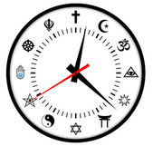 Religions clock — Stock Photo