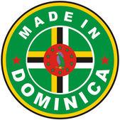 Gemaakt in dominica — Stockfoto