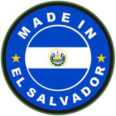 Made in el salvador — Stock Photo