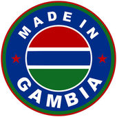 Made in gambia — Stock Photo