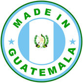 Made in guatemala — Stock Photo