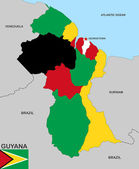Guyana map — Stockfoto