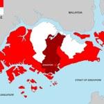Singapore map — Stock Photo #21900817