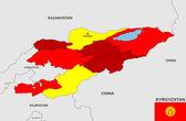 Kyrgyzstan map — Stock Photo
