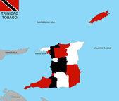 Trinidad tobago map — Stock Photo