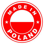 Made in poland — Foto de Stock