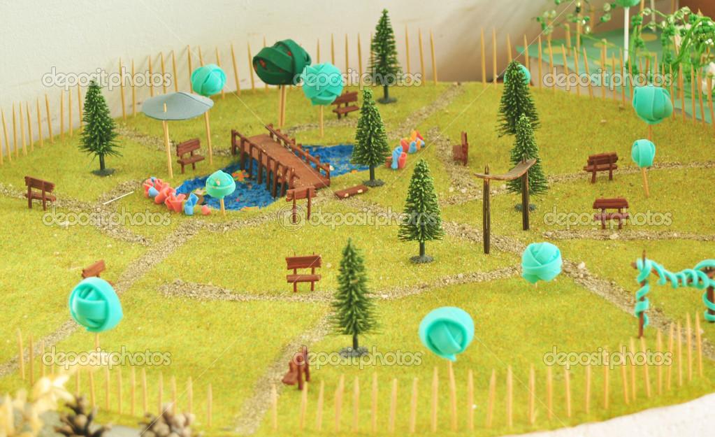 Jard n en miniatura fotos de stock tony4urban 23982467 for Maquetas de jardines
