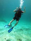 Ok diver — Stock Photo