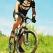 Offroad bicyclist — Stock Photo