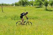 Cycliste de plein air — Photo