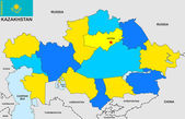 Kazakstan kartamapa kazachstánu — Stockfoto
