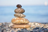 Zen dark stones — Stock Photo