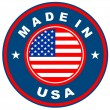 made in USA — Stok fotoğraf