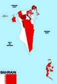 巴林地图 — 图库照片