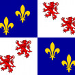Stock Photo: Picardie flag