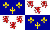 Picardie flag — Stock Photo