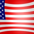 Usa flag roll up — Stock Photo