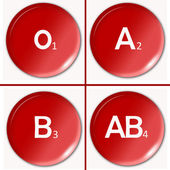Blood type — Stock Photo