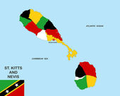 Saint kitts and nevis map — Stock Photo