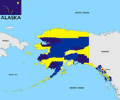 Alaska state map — Stock Photo