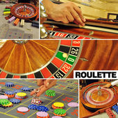 Roulette colage — Stock Photo