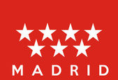 Madrid flag — Stock Photo