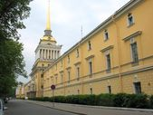 City street and building. Saint Petersburg — Stock Photo