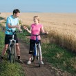 Couple relax biking — Stock Photo