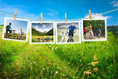 Cycling outdoors — Stock Photo