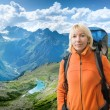 Stock Photo: Hiking in mountains