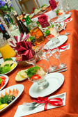 Decorated table in the restaurant. — Stock Photo