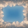 White clouds square frame — Stock Photo